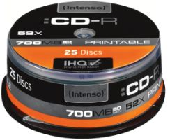 Intenso CD-R 700MB 25er Spindel Printable