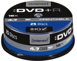 Intenso DVD+R 4,7GB 25er Spindel Printable
