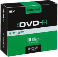 Intenso DVD-R 4,7GB 10er Slimcase 16x