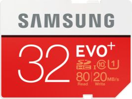 Samsung EVO+ 32GB SDHC Card 80MB/s